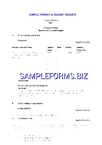 Budget Proposal Template & samples forms