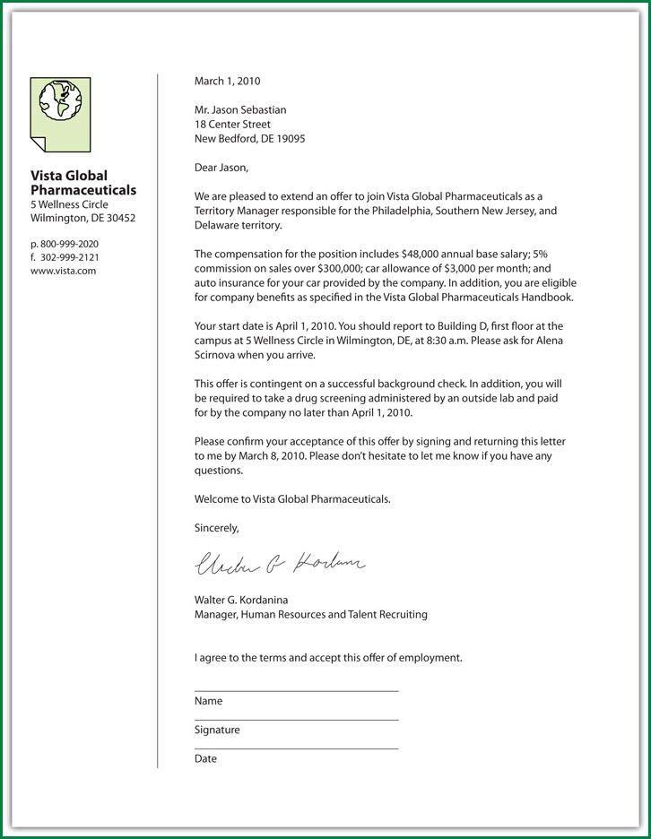 7 Employment Offer Letter Template | applicationsformat.info