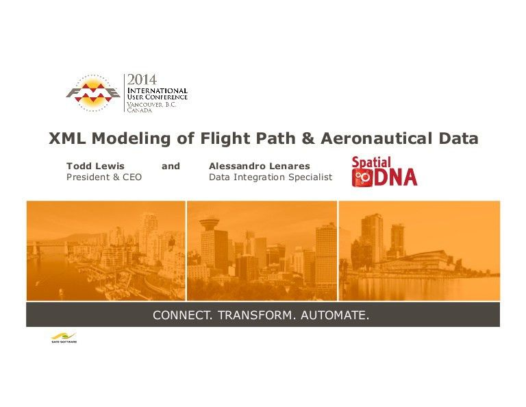 XML Modelling of Flight Paths and Aeronautical Data