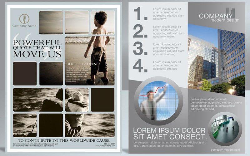 Print Ad Flyer Photoshop Flyer Templates 2-pack V1   Cursive Q