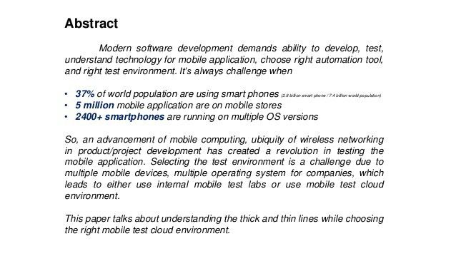 Thick and Thin Lines in Choosing Mobile Test Cloud Environment by Shr…