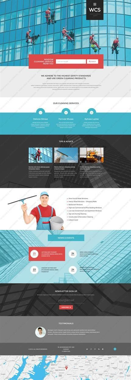 Website Templates Maintenance Services Cleaning Company Services ...