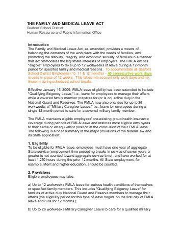 Medical Leave Form. Medical Leave Of Absence Request: Serious ...