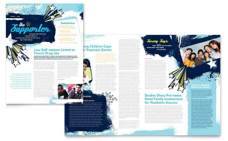 Child Advocates Newsletter Template - Word & Publisher