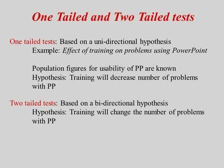 Hypothesis Tests: One Sample Mean - ppt download