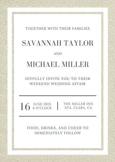 Wedding Invitation Template - marialonghi.Com