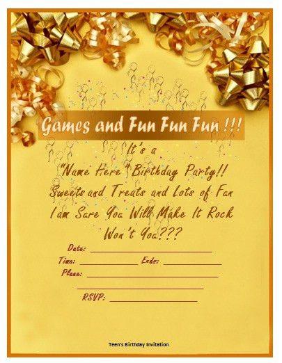 Birthday Invitation Template Word – gangcraft.net