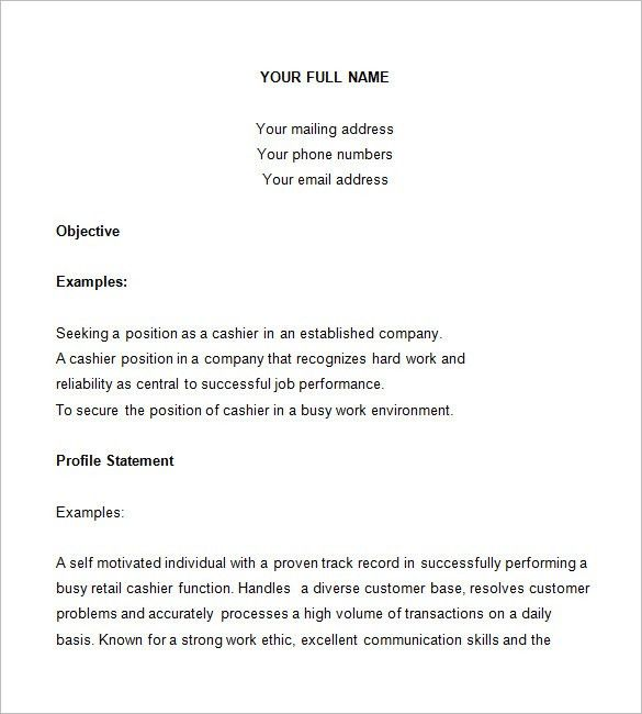 examples of cashier resume unforgettable part time cashiers