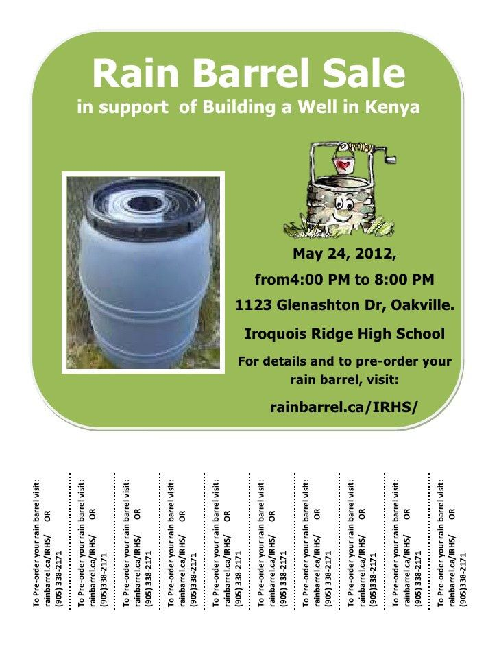 Tear away flyer for rain barrels