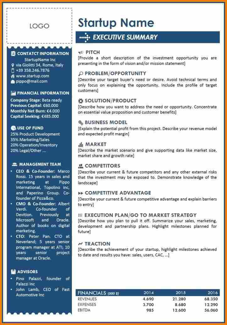 8+ executive report template   resume reference