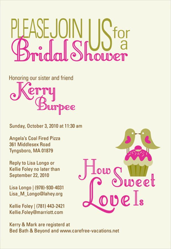 Bridal Shower Party Invitations - 6+ Free Editable PSD, AI, Vector ...