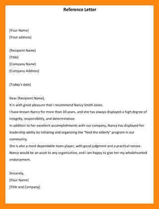 9+ letter of reference template | nurse resumed