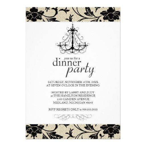 28+ Sample Dinner Party Invitations | Dinner Party Invitation ...