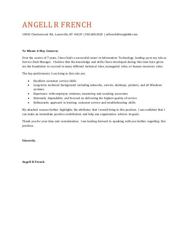 Angell r french cover letter - general