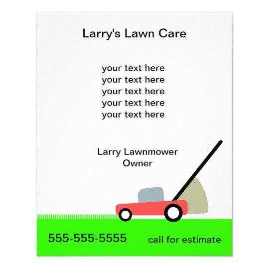 Lawn Care Services Flyer | Zazzle.com