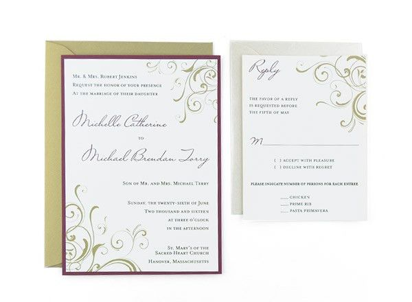 Cards and Pockets - Free Wedding Invitation Templates