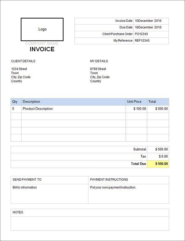 Download Commercial Invoice Template Doc | rabitah.net
