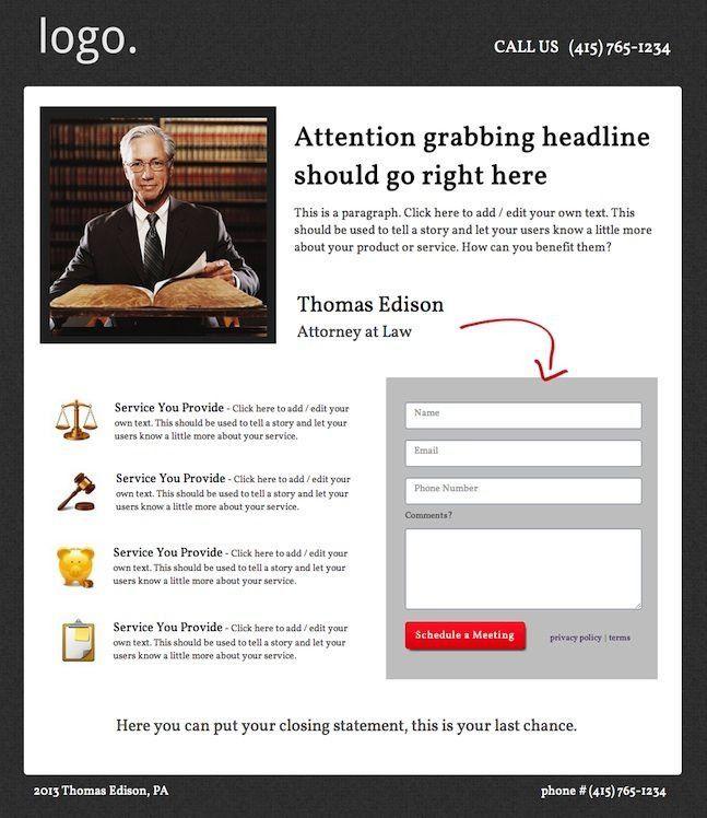 Free Landing Page Templates | lisamaurodesign