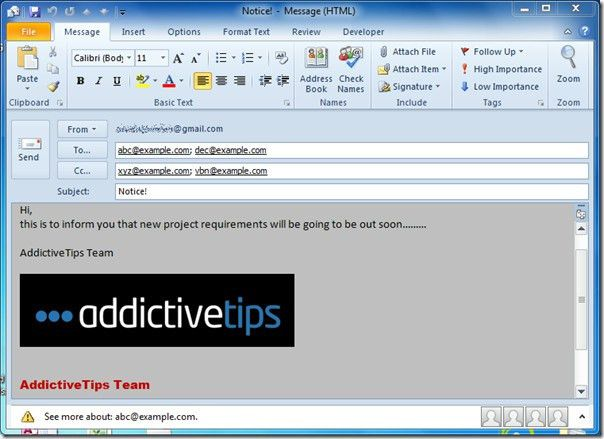 Create & Use Email Templates In Outlook 2010