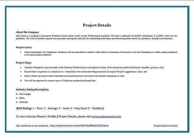 certificate of completion of project sample