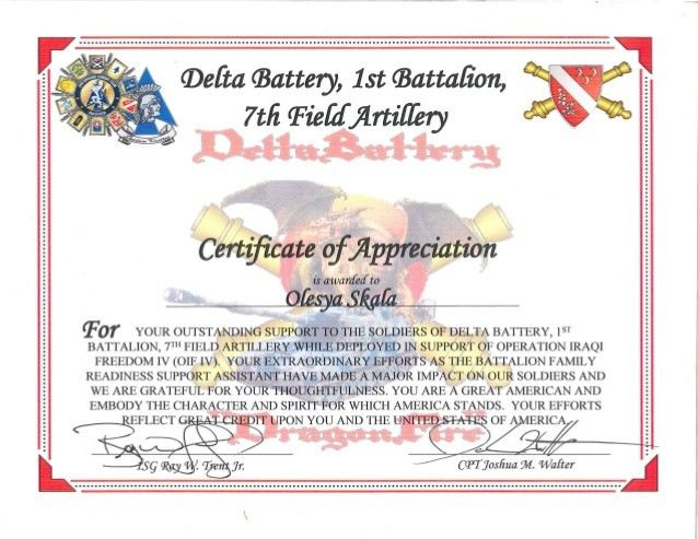 1-7 FA Certificate of Appreciation