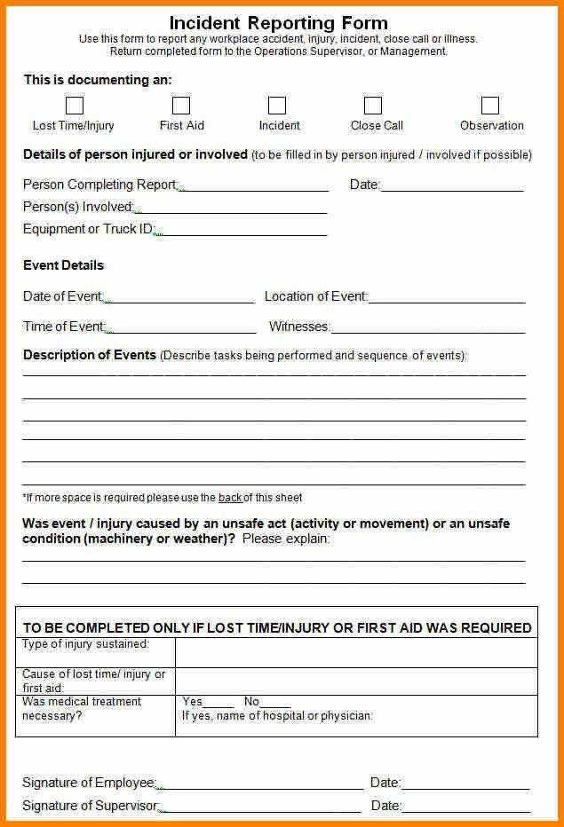 6+ incident report form template word | budget template