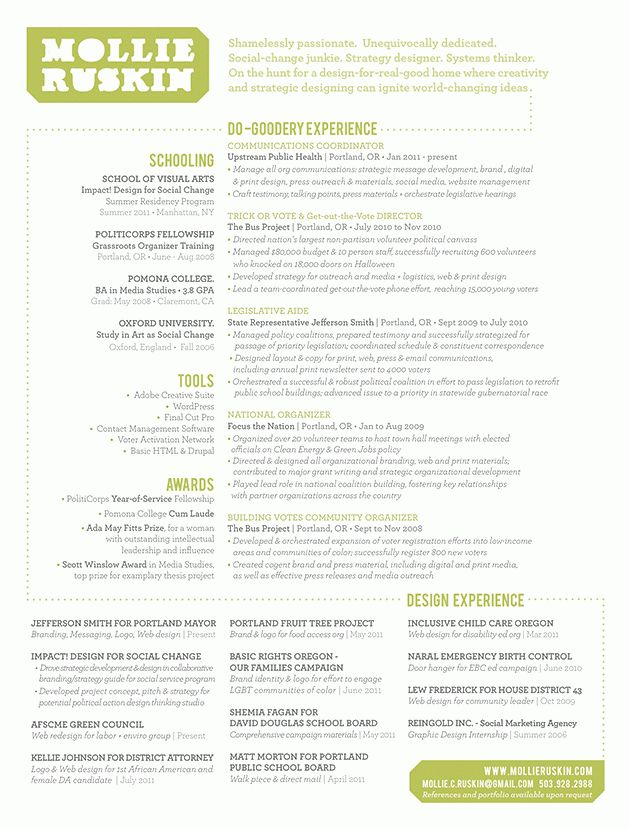 amazing resume design // www.mollieruskin.com | Graphic design ...