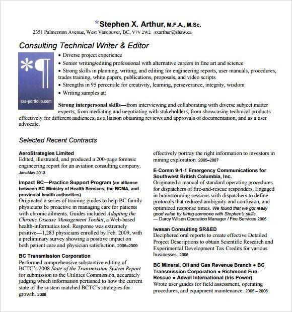 10+ Writer Resume Templates - Free PDF, Word, Samples