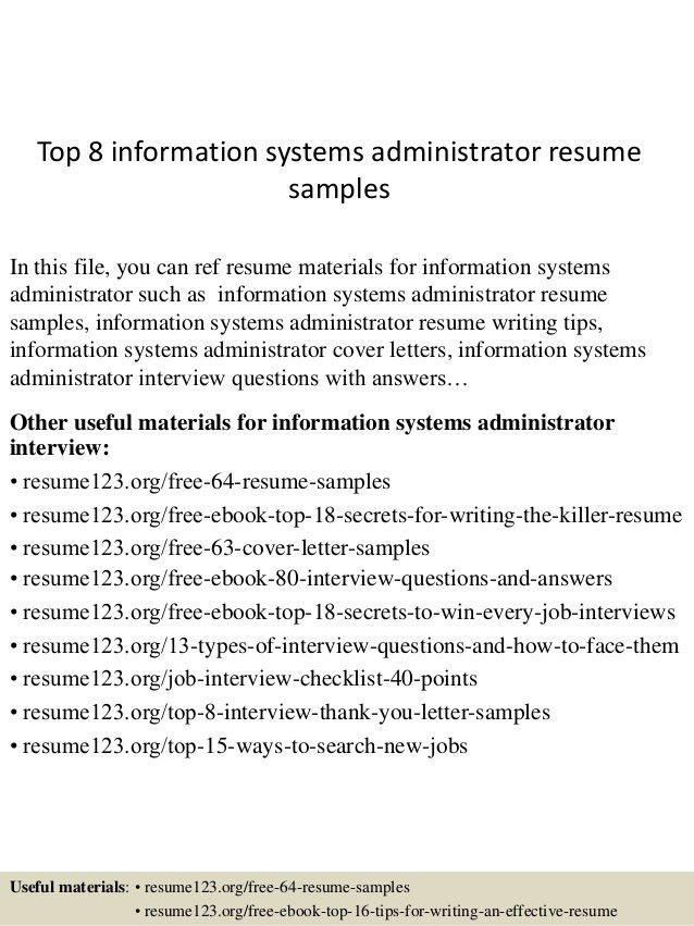 top-8-information-systems-administrator-resume -samples-1-638.jpg?cb=1432907609