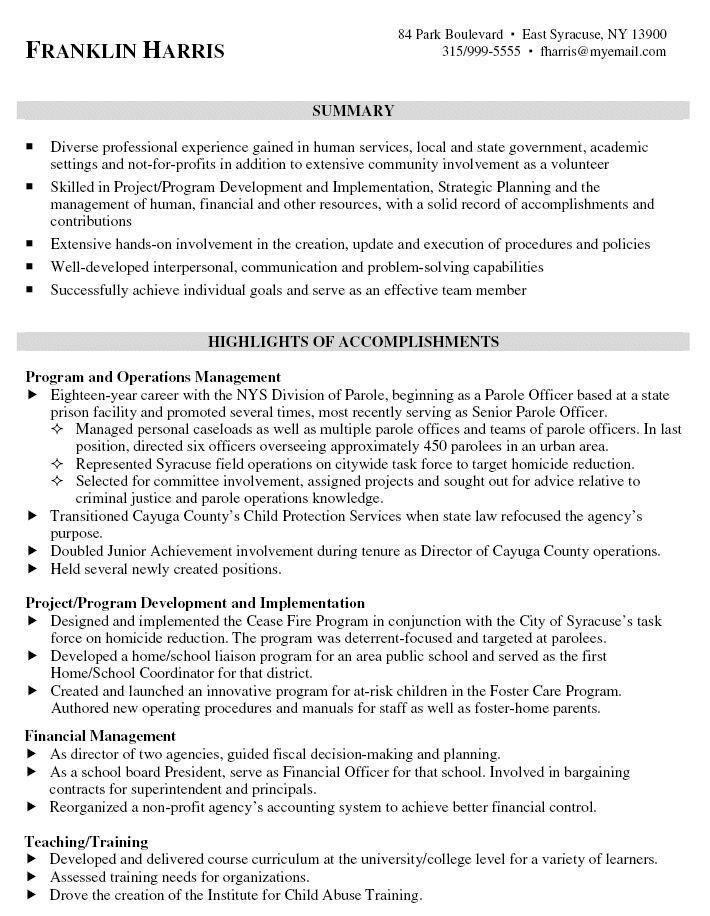 Examples Of Professional Resumes. Example Of A Resume For A Career ...