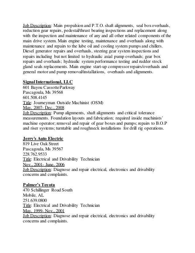 Thomas Bacon's Resume Updated 5-31-16