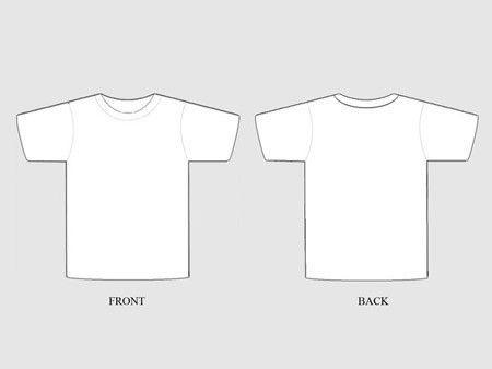 19 Free Blank T Shirt Template Designs – UCreative.com | my ...