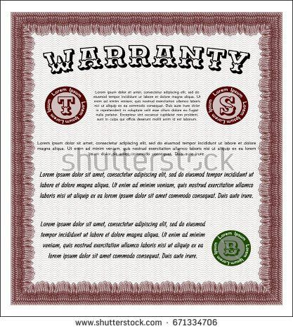 Orange Certificate Achievement Template Lovely Design Stock Vector ...