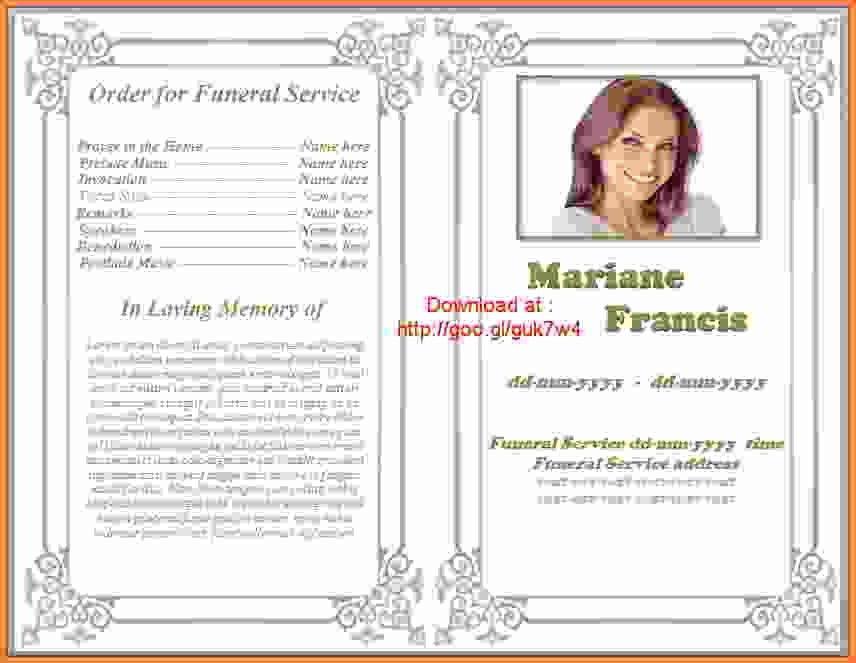 5+ free funeral program template download - Sales Report Template