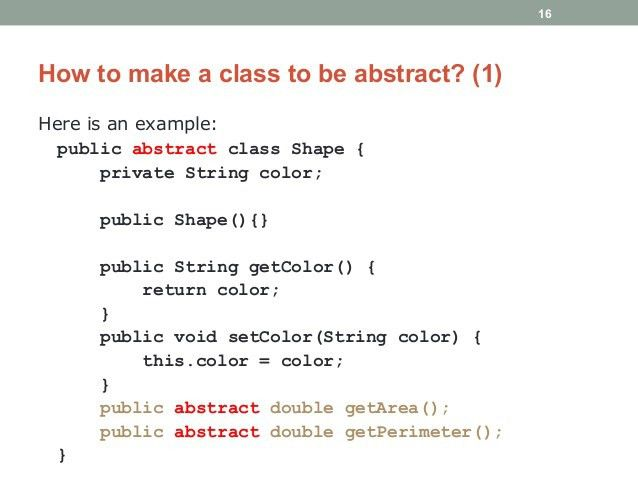 Java Programming - Introduction to Abstract Class