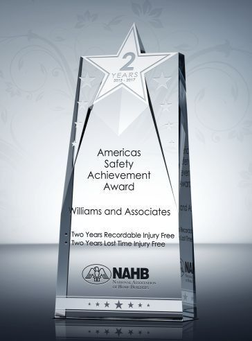 Star Safety Recognition Plaque & Sample Wording Ideas | DIY Awards