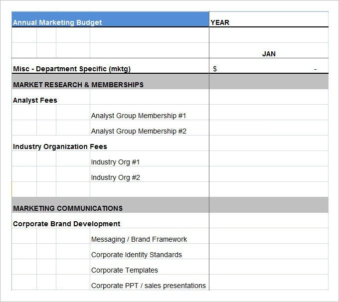 Marketing Budget Template – 17+ Free Word, Excel, PDF Documents ...