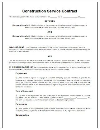 Work Contract Templates. Printable Sample Employment Contract ...