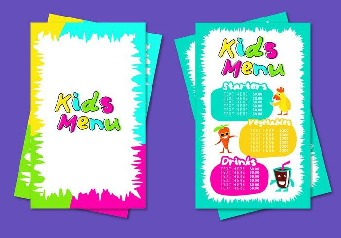 Kids Menu Template Vector - Download Free Vector Art, Stock ...