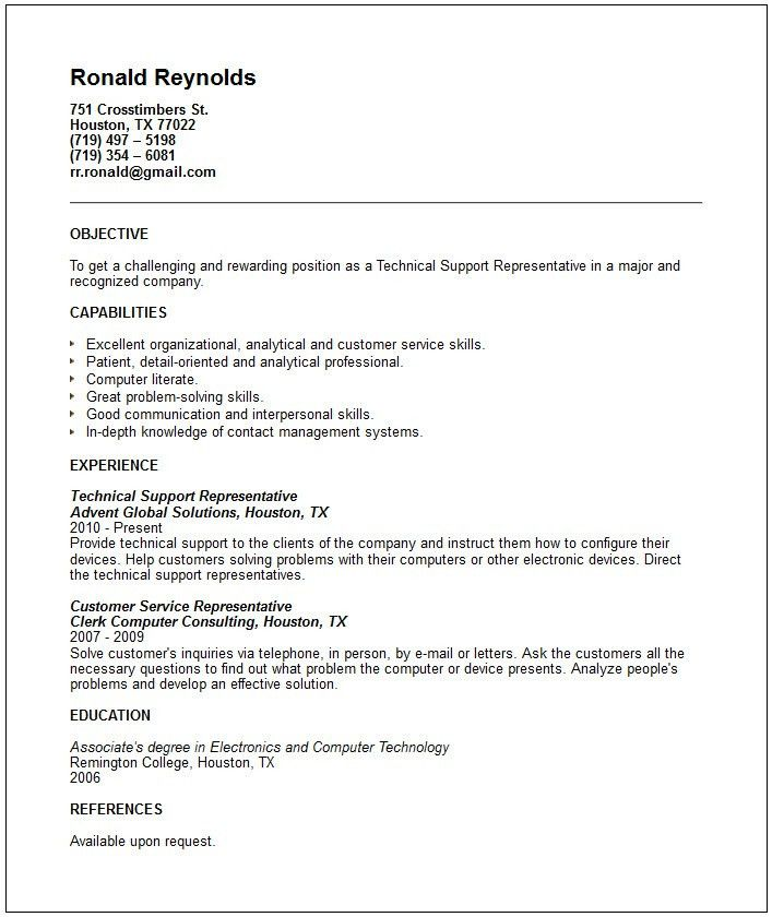 Technical Support Resume Examples] Unforgettable Technical Support ...