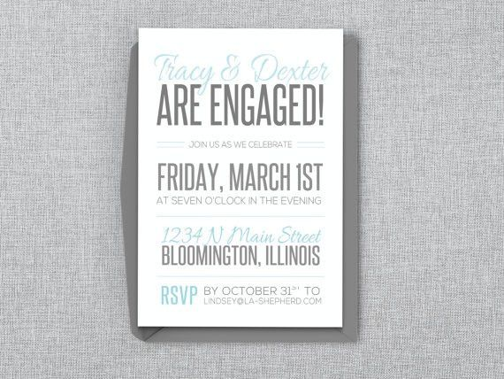 Casual Engagement Party Invitation Editable MS Word by LAShepherd ...