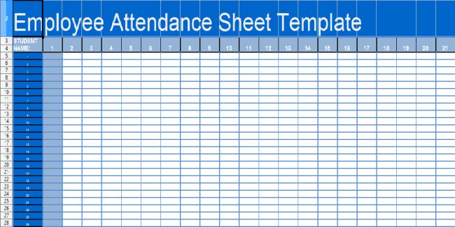 Free Printable Daily Student and Employee Attendance Sheet ...