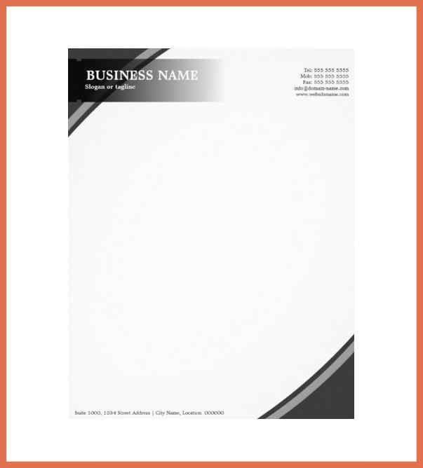 Letterhead Format For Company - formats.csat.co