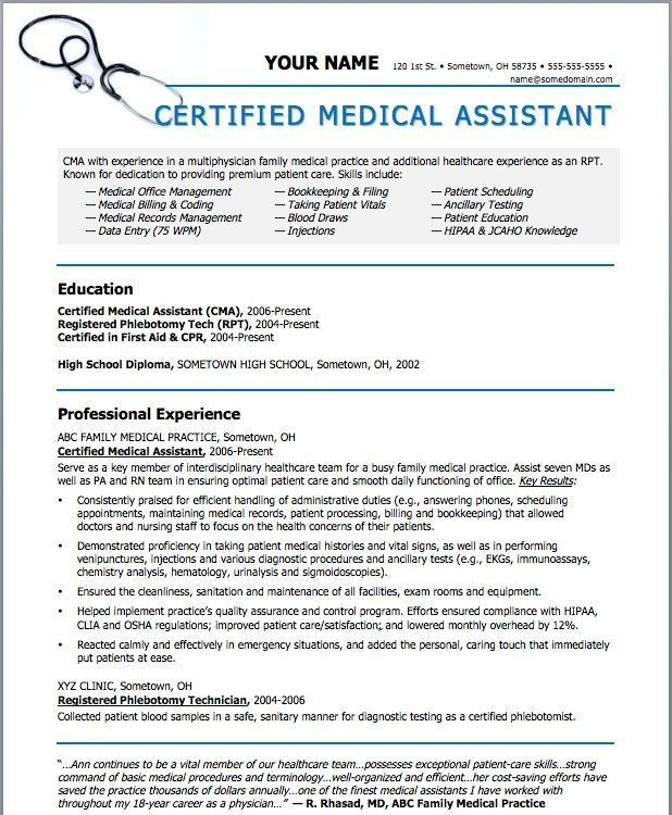 Medical Assistant Resume cakepins.com | beauty | Pinterest ...