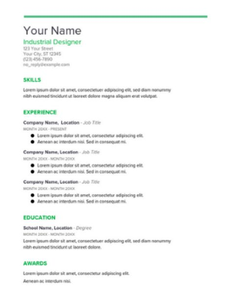 Google docs resume template | ielts | Pinterest | Resume layout