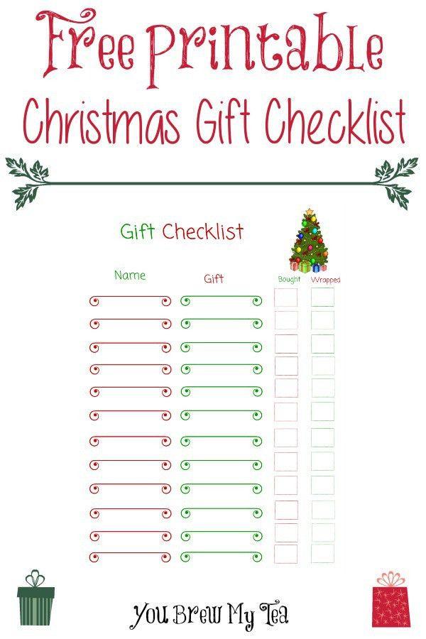 Free Printable Christmas Gift Checklist -