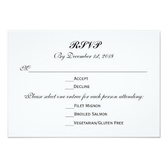 RSVP Cards & Templates | Zazzle