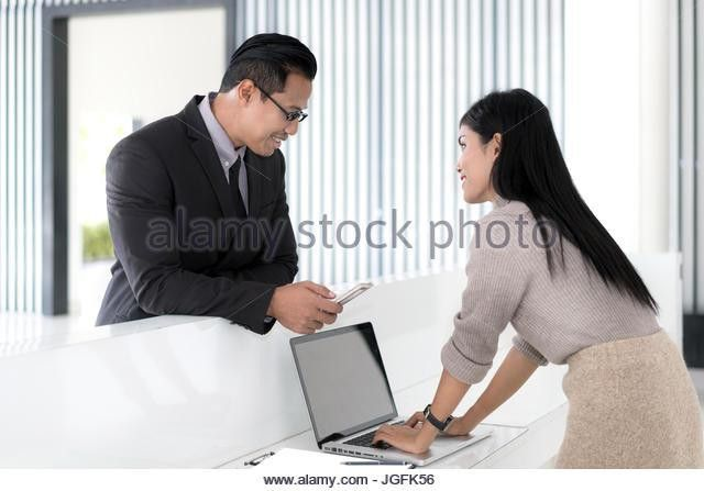 Front Desk Check In Reception Stock Photos & Front Desk Check In ...