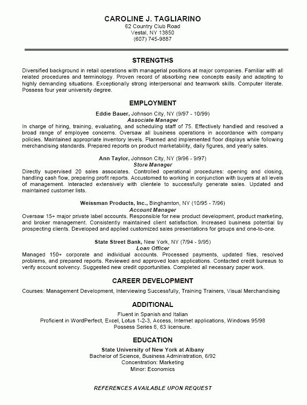 Resume In Business Free Resume Samples Templates Resume Format ...