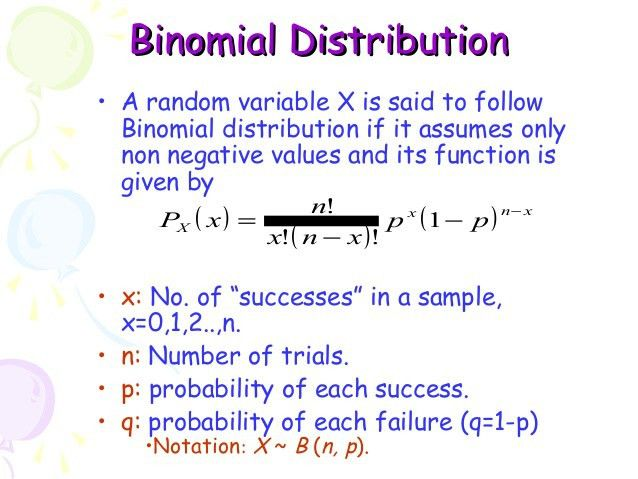 7. binomial distribution